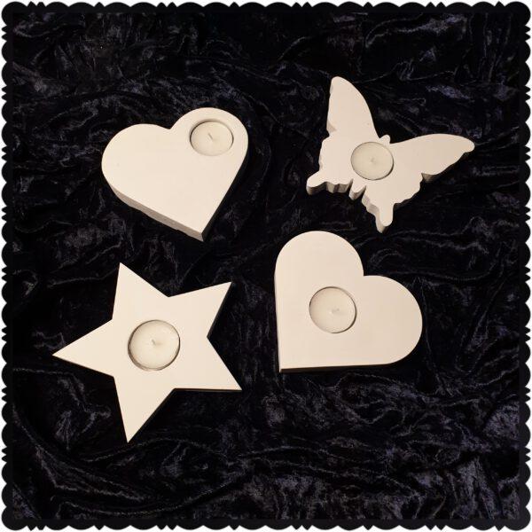 waxinelichthouder ster hart vlinder
